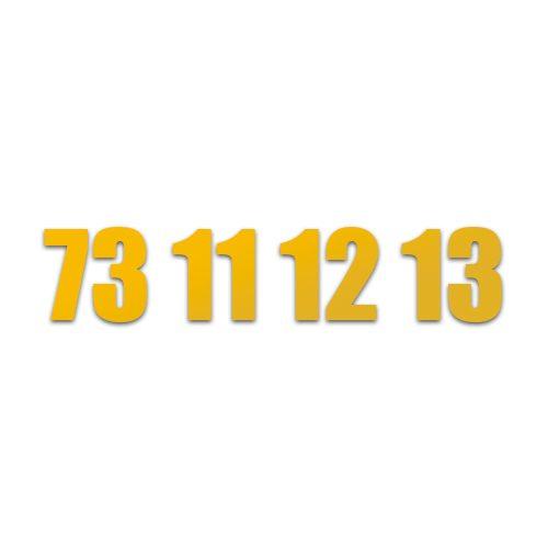 Guldnummer 73 11 12 13